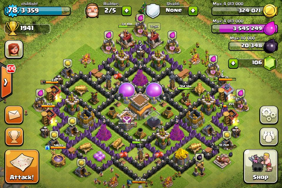 Town Hall Level 8 Trophy Base