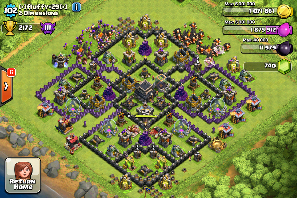 town hall 9 trophy base official website for defiance