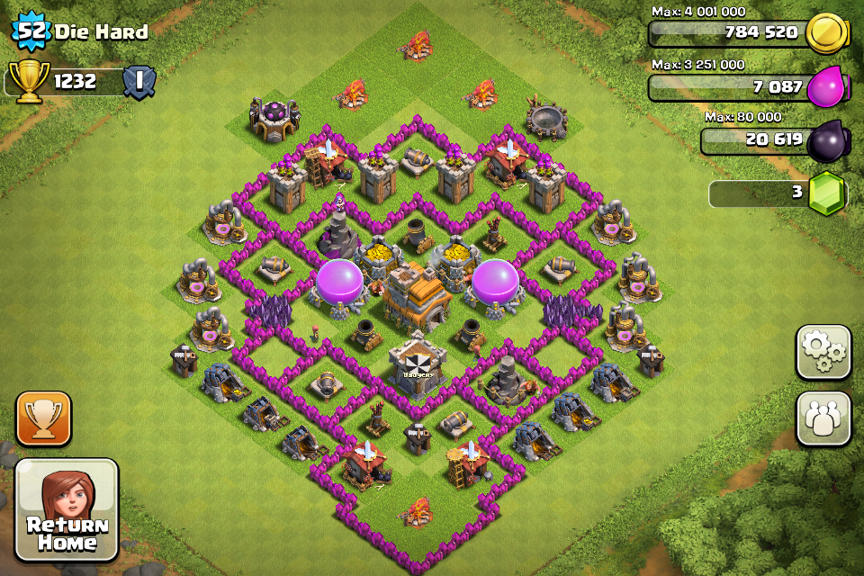 Town Hall 7 Home Base Design Part - 42: Town Hall 7 Trophy Bases! Picture